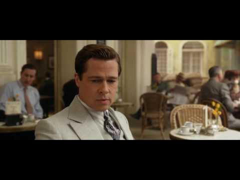 German Officer Choked by Brad Pitt ALLIED 2016 1080p