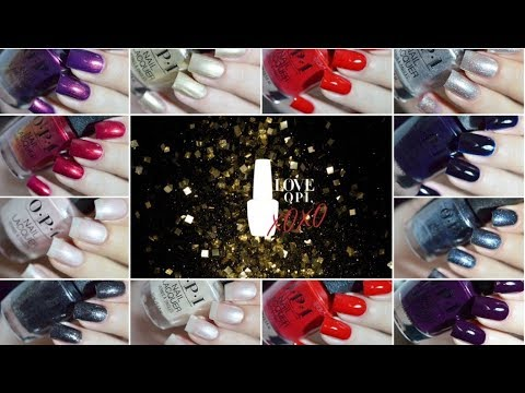 LOVE OPI XOXO / Holiday 2017 OPI Collection Swatches