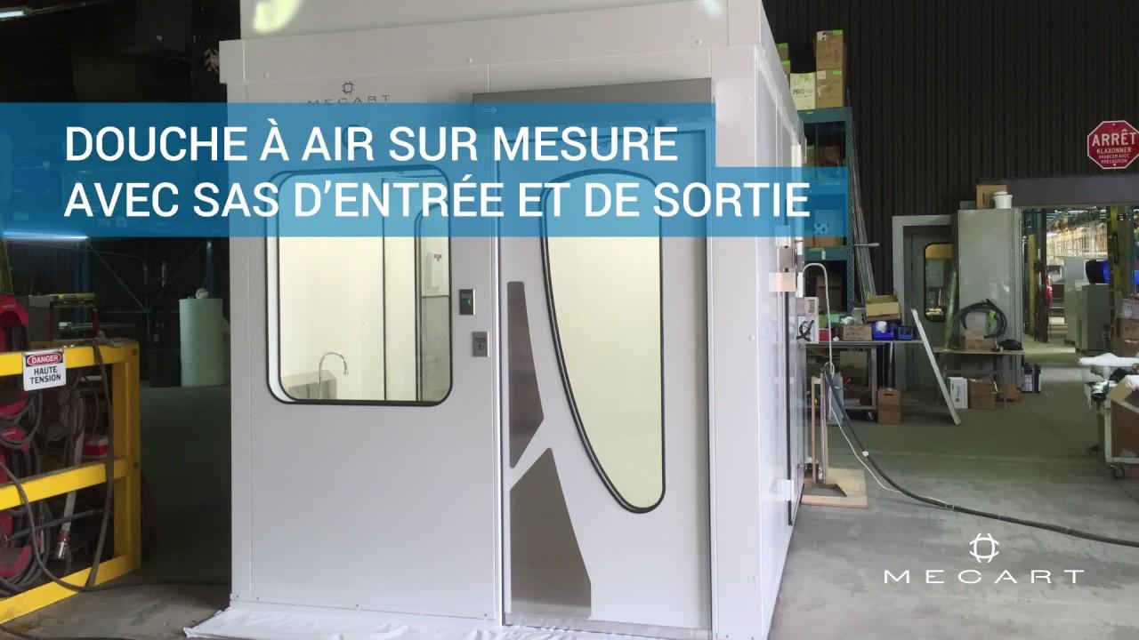 Douche A Air Pour Salles Blanches Concue Sur Mesure Par Mecart
