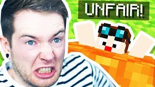 Playing an UNFAIR Minecraft Map!
