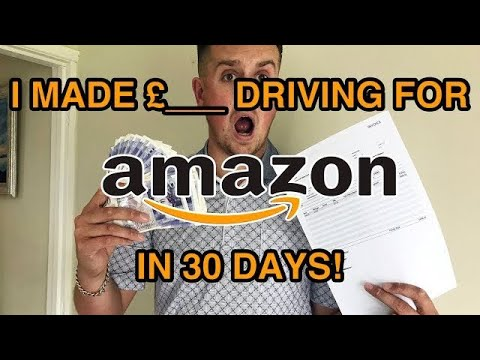 How Much Amazon Paid Me After Driving For Them For A Month! Driving For Amazon UK