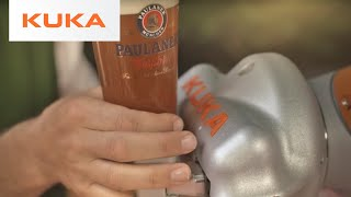 KUKA LBR iiwa in Paulaner beer pouring contest