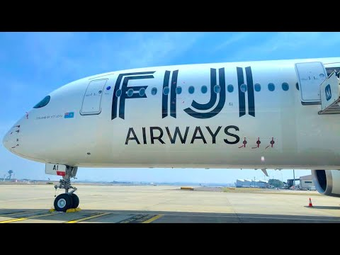 FIJI AIRWAYS NEW A350-900 REVIEW | BUSINESS and ECONOMY CLASS
