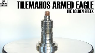 DIY Atomizer - The Golden Greek Tilemahos Armed Eagle RTA 25mm - Recenze (CZ)