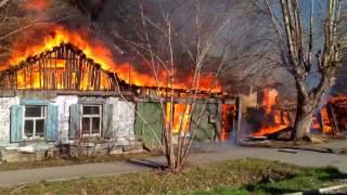 ул.Совхозная 96 пожар Тюмень
