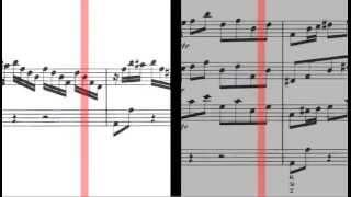 BWV 1055 - Harpsichord Concerto in A Major (Scrolling)