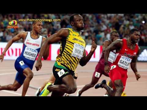 Unfortunate Incident   Usain Bolt floored by Cameraman on Segway   World Championship 200m