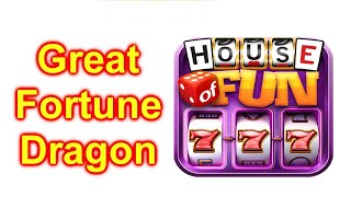 """HOUSE OF FUN Casino Slots Game How To Play """"Great Fortune Dragon"""" Cell Phone"""