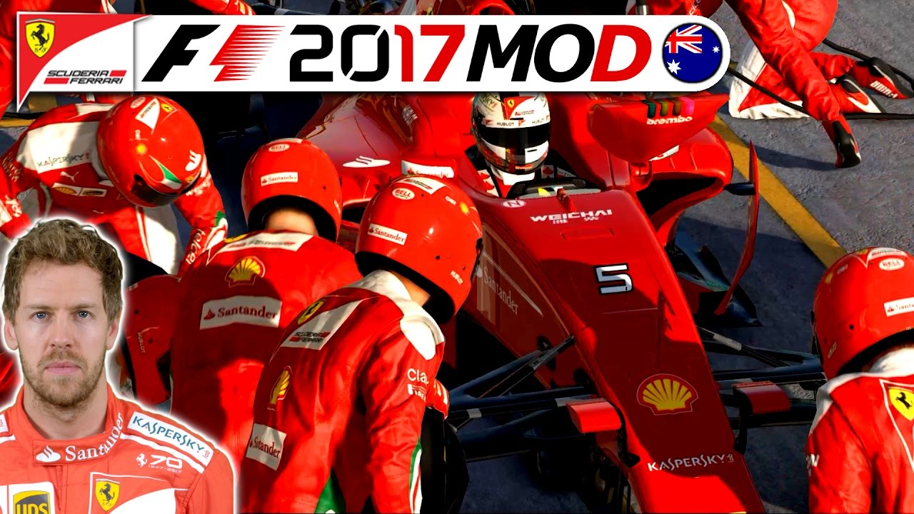 eine legend re saison beginnt f1 2017 saison mod german sebastian vettel karriere 1. Black Bedroom Furniture Sets. Home Design Ideas