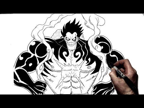 How To Draw Luffy Gear 4 | Step By Step | One Piece