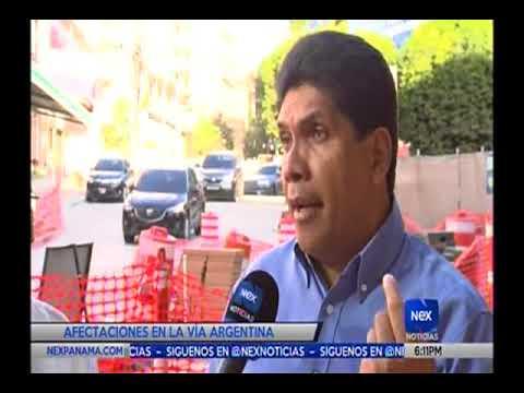 Comercisantes de la Via Argentina se quejan de las Perdidas por las reparaciones que se dan