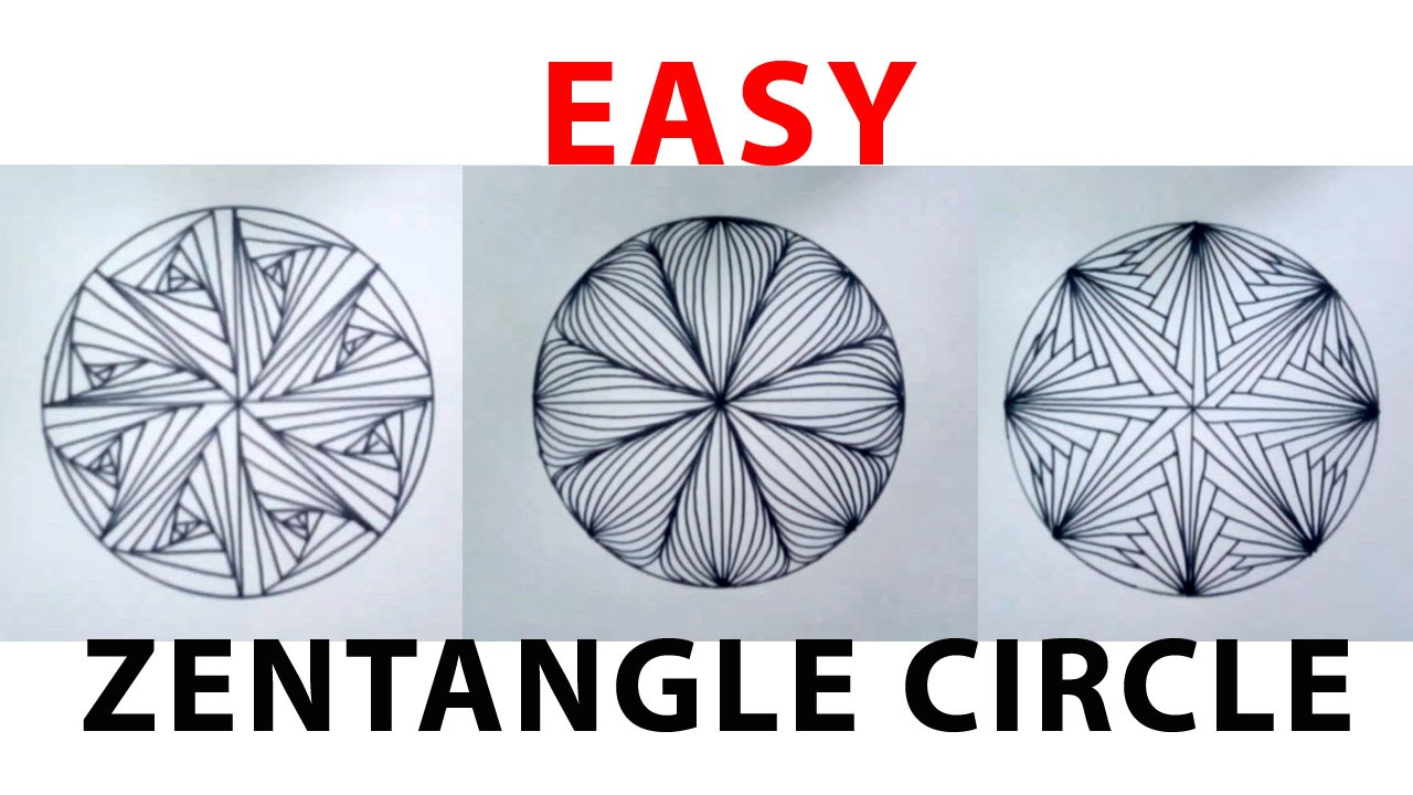 Menggambar easy zentangle circle doodle zentengle for Simple doodle designs with names