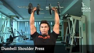 เล่นกล้ามเนื้อไหล่ Dumbbell Shoulder Press
