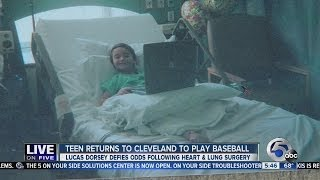 Baseball-playing teen from New York state returns twelve years after first heart surgery at Clevelan