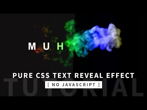 Pure CSS Text Reveal From Smoke Animation Effect | CSS Animation Tutorial | Part 1/2