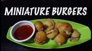 Recipe for Miniature Burgers Chotu Burger  Tiny Burgers  Party Starters  Chotu Cafe kitchen
