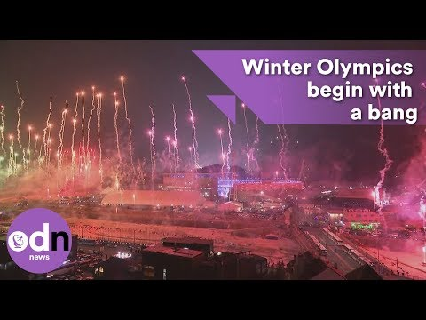Winter Olympics in South Korea begin with a bang