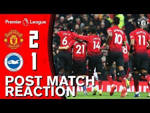 Matic, Dalot & Solskjaer look back on Brighton win | Manchester United 2-1 Brighton | Premier League
