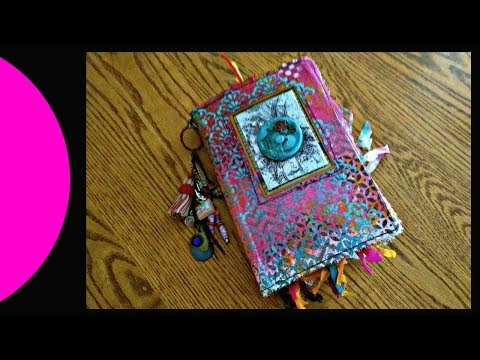 Altered Book Interactive Art Journal in Boho Style Part 2