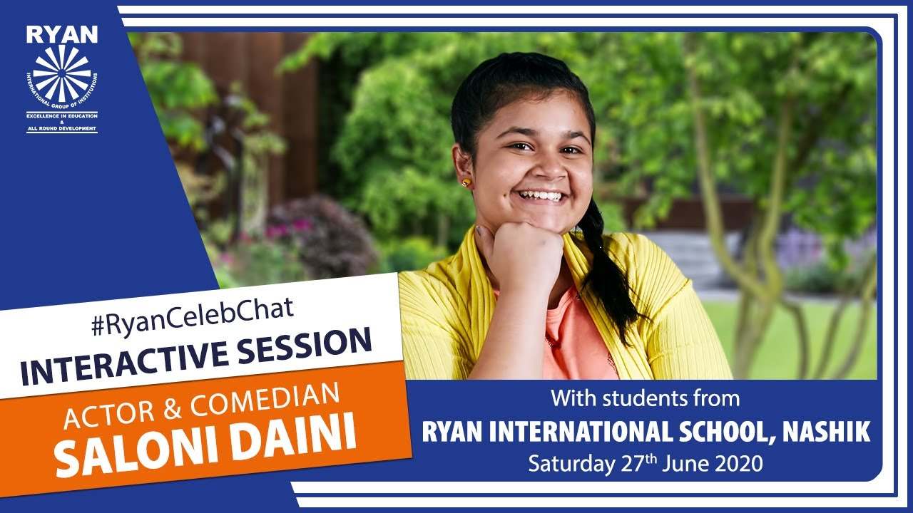 #RyanCelebChat Interactive Session with Saloni Daini | Ryan International School, Nashik