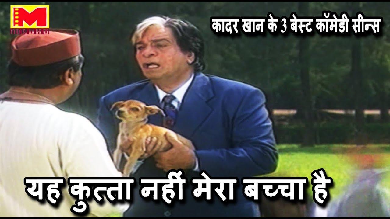 यह कुत्ता नहीं मेरा बच्चा है || कादर खान के 3 बेस्ट कॉमेडी सीन्स || Comedy Scenes