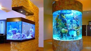 50+ Unique Aquarium or Fish Tank Decoration Idea / Wall Aquarium for Modern House / 2020