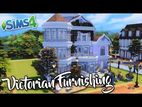 The Sims 4 Victorian House Furnishing Speed Build