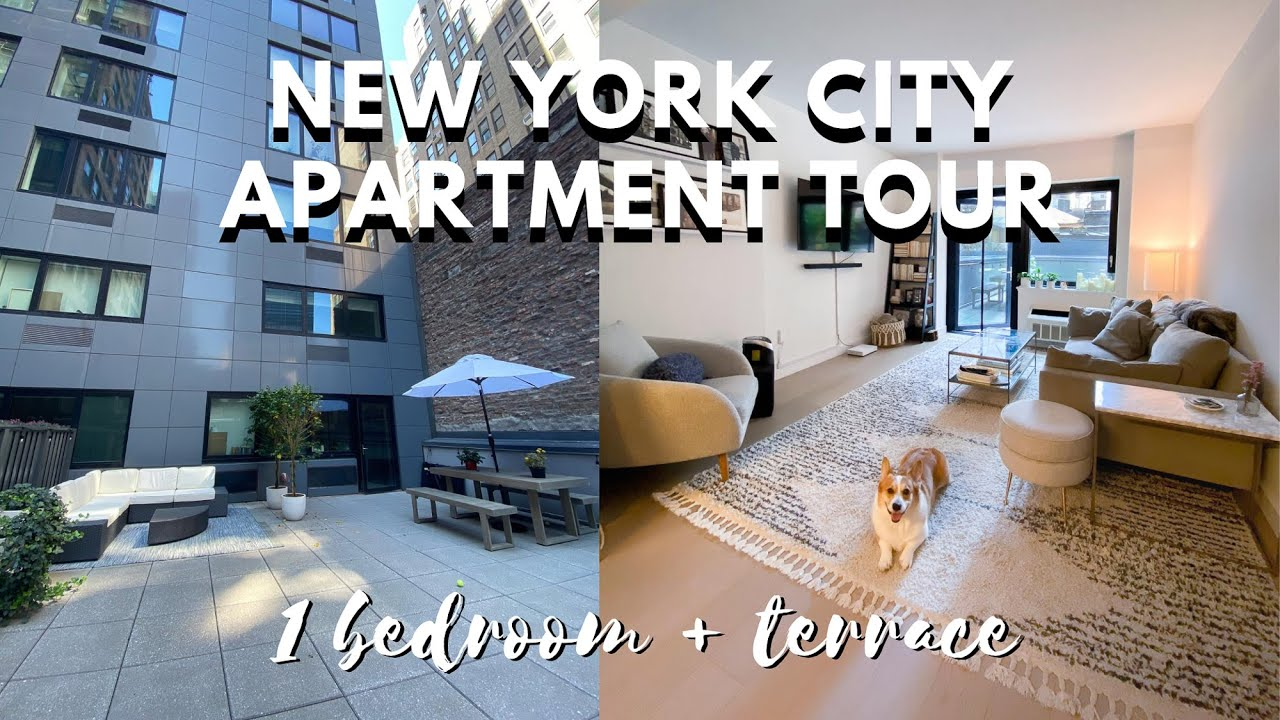 NYC APARTMENT TOUR | CHELSEA 1 BEDROOM + TERRACE - YouTube