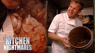 Ramsay Flips Out Over RAW Pork Stored Next to COOKED Chicken Wings! | Kitchen Nightmares