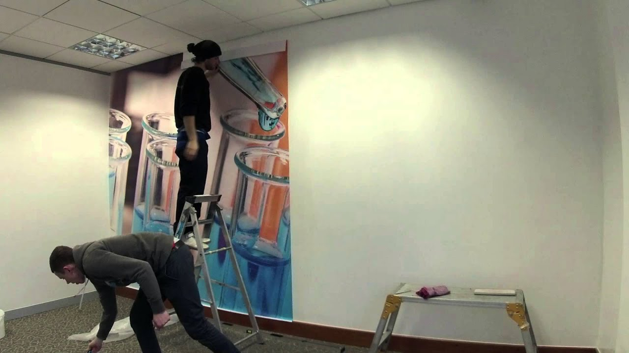 Large format printed wallpaper, installation by RuttersUK - YouTube