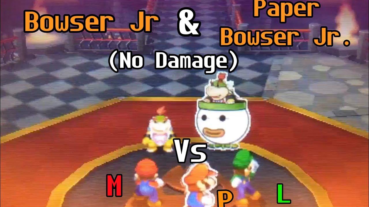 Mario Luigi Paper Jam Boss 12 Bowser Jr Paper