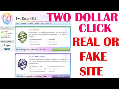 Two Dollar Click I How To Online Earn Money Two Dollar Click Site Real Or Fake