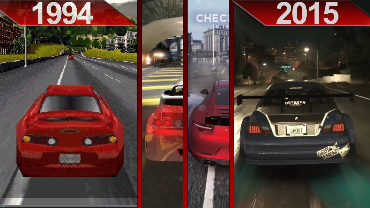 Evolution Of Need For Speed Graphics 1994