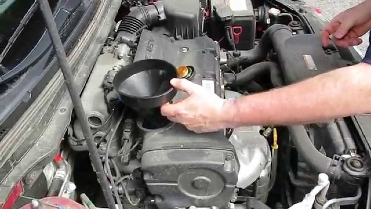 Hyundai Elantra Touring Motor Oil And Filter Change