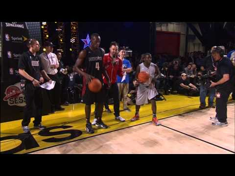 Usain Bolt and Kevin Hart race up & down the court!