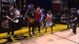 Usain Bolt and Kevin Hart race up & down the court! thumbnail