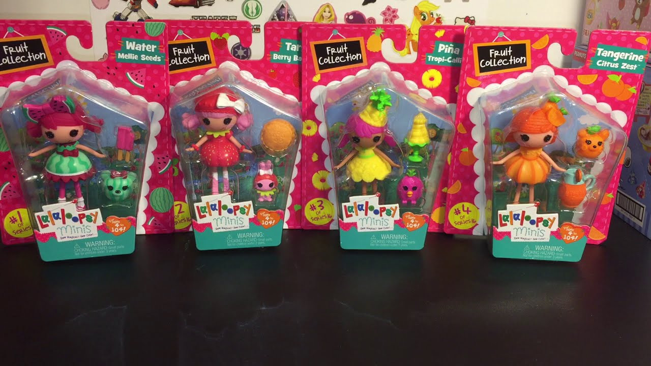 Lalaloopsy Mini Dolls Fruit Collection 1 4 Set Toy Opening U0026 Review:    YouTube