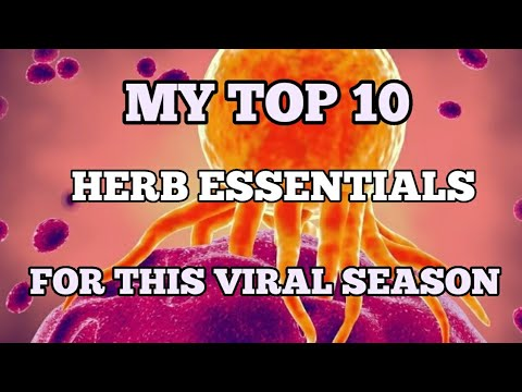 MY TOP 10 HERB ESSENTIALS FOR THIS VIRAL SEASON RELOADED #Herbalmedicine