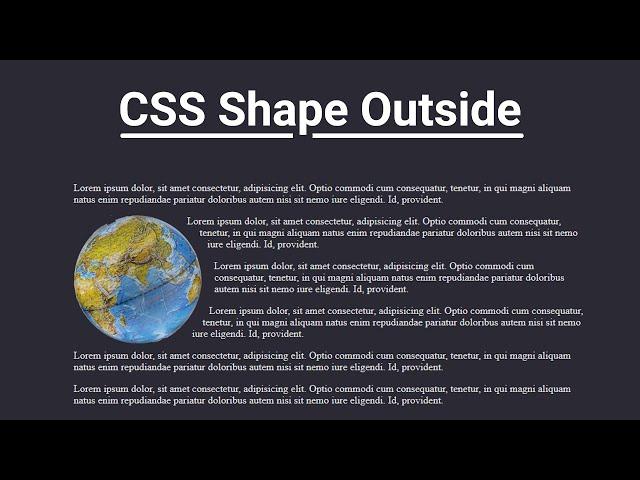 CSS Shape Outside