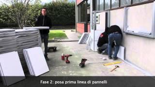 installazione sistema PIZ cladding system