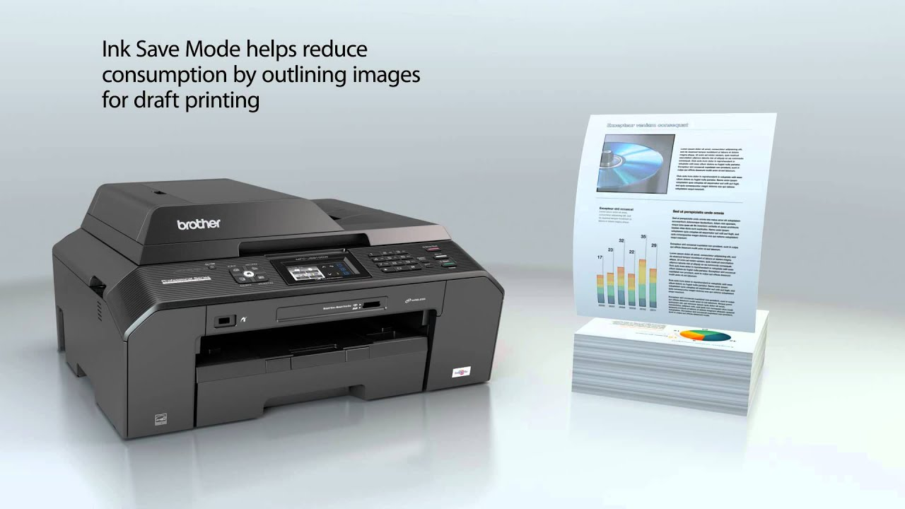 Brother Professional All-in-One Inkjet Printer | MFC-J5910DW - YouTube