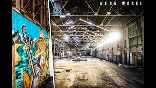 COOL GRAFFITI in ABANDONED STEELWORKS, Briton Ferry - URBEX