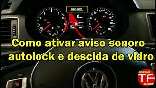 Dúvidas sobre subida e descida de vidro elétrico no controle original VW e aviso sonoro.