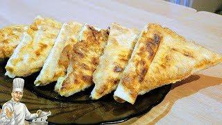 Лаваш с сыром и колбасой в яйце - быстрый завтрак