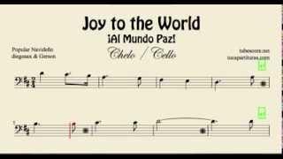 Joy to the World Sheet Music for Cello Al Mundo Paz Christmas Carol