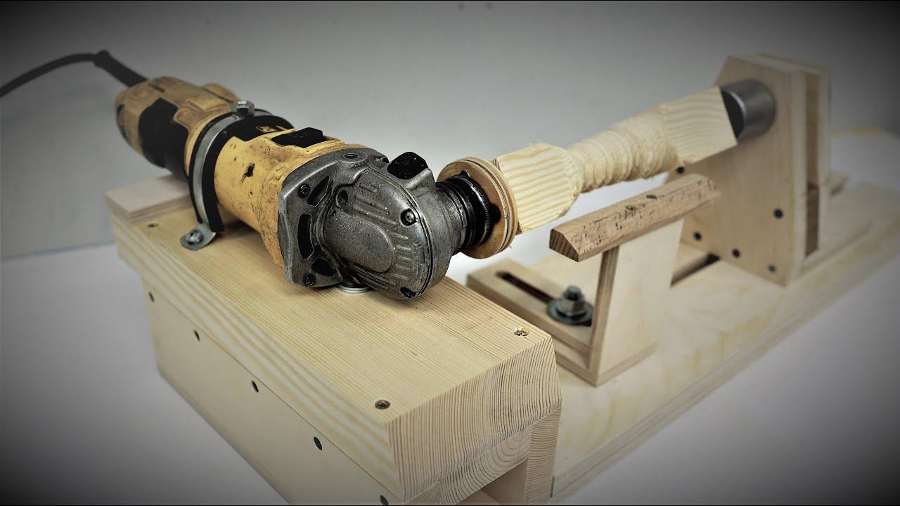 DIY мини токарный станок из угловой-шлифовальной машины