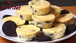 Cookies and Cream Mini Cheesecakes | One Pot Chef