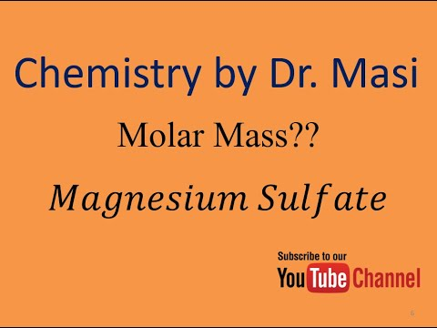 What Is The Molecular Formula And Molar Mass Of Magnesium Sulfate? - Chemistry