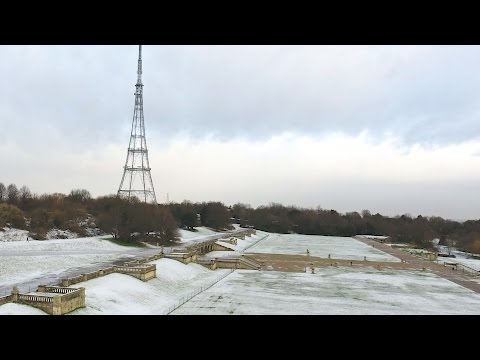 London First Snow of the Year  2017 Crystal Palace Park