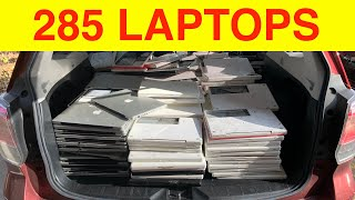 I Bought 285 Apple Laptops From an Electronics Recycler